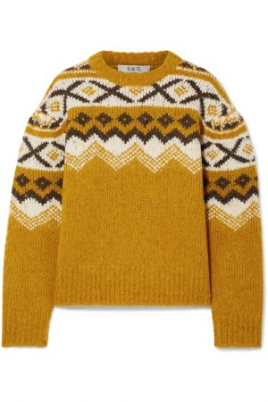 SEA Fair Isle Knit Sweater