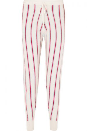 Madeleine Thompson Ustica striped Cashmere track pant