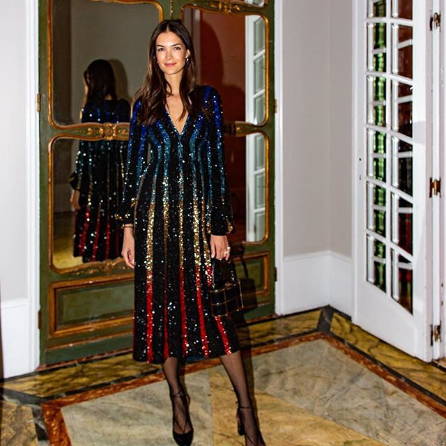 SALONI's Rainbow Sequin Dress has me Drooling