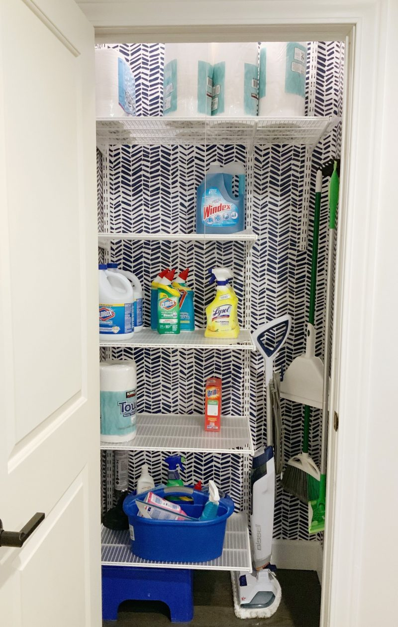 My new cleaning closet