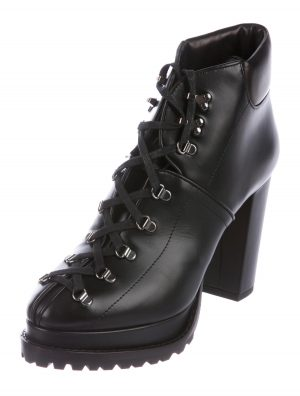 Alaia Leather Combat Boots